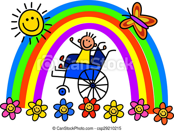 invalido, ragazzo, carrozzella - csp29210215