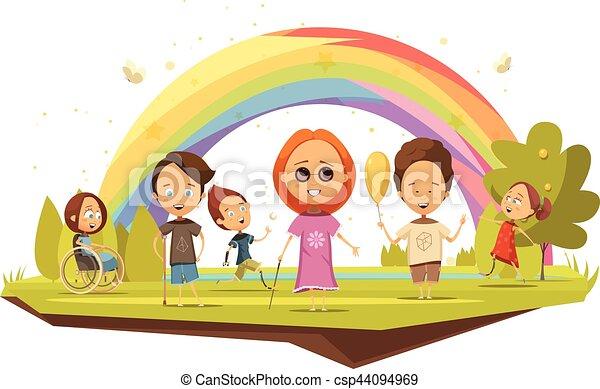 Cartone animato duck bambini impermeabile ombrello ufo forma