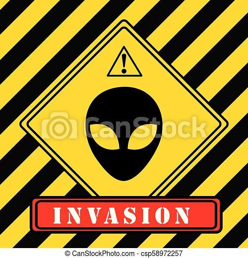 Invasion of aliens - csp58972257