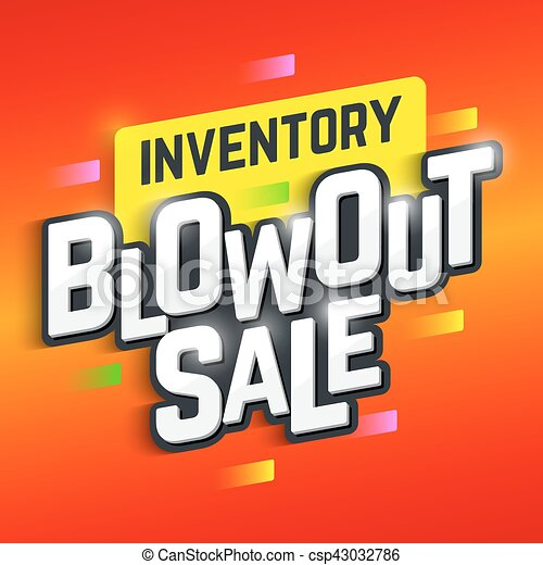 inventory blowout sale banner special offer