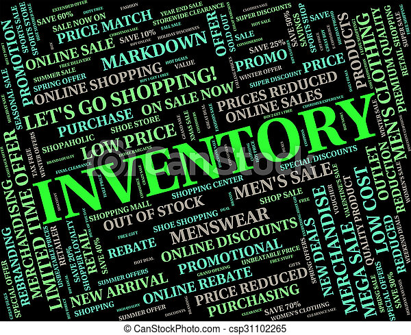 Inventory Word Represents Words Merchandise And Logistic - csp31102265