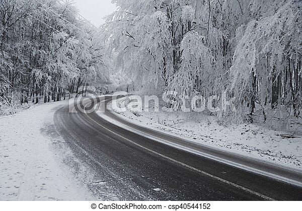 inverno, dirigindo - csp40544152