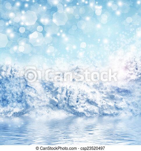inverno, fondo - csp23520497