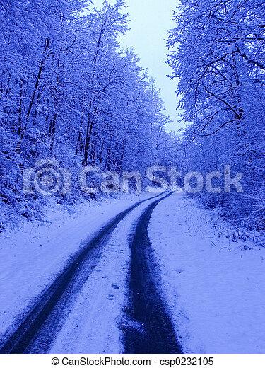 inverno, strada - csp0232105