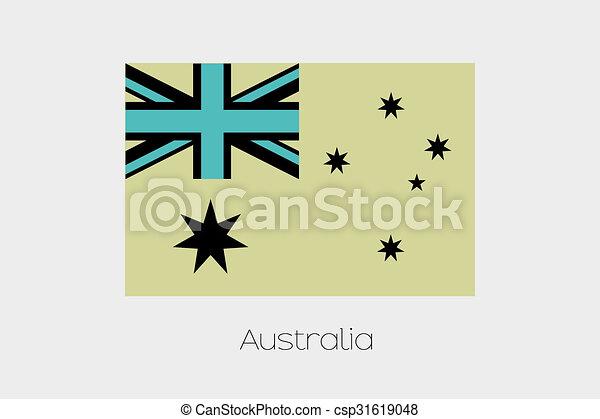 Inverted Flag of  Australia - csp31619048