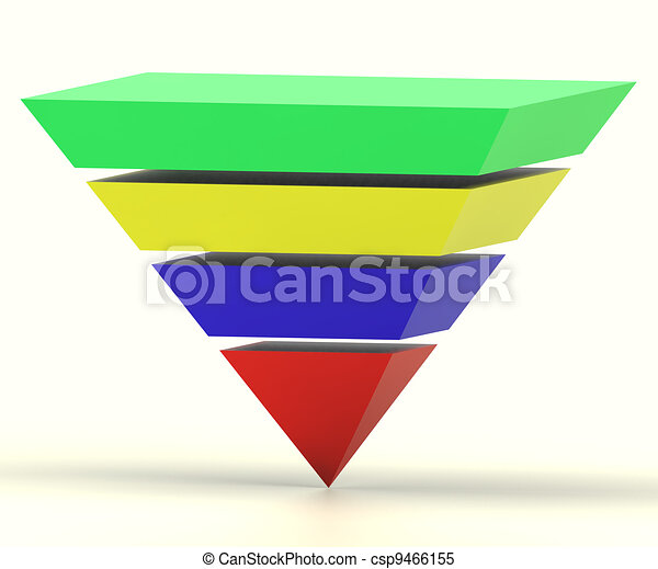 Inverted Pyramid With Segments Shows Hierarchy Or Progress - csp9466155
