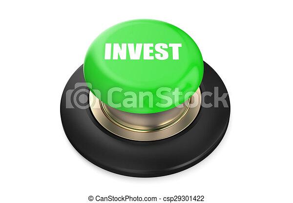 Invest button green push button - csp29301422