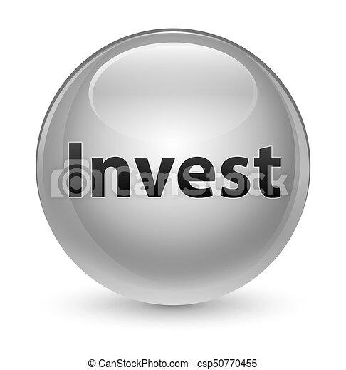 Invest glassy white round button - csp50770455