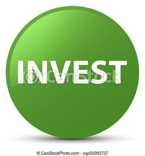 Invest soft green round button - csp50383737