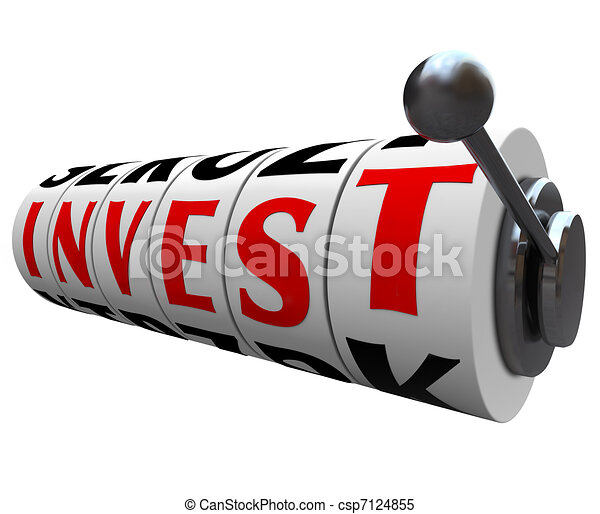 Invest Word Slot Machine Wheels - Risky Investment - csp7124855