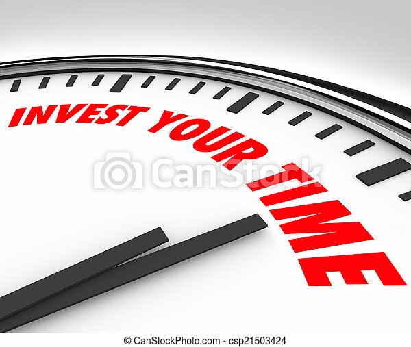 Invest Your Time Clock Priorities Opportunities Resources - csp21503424