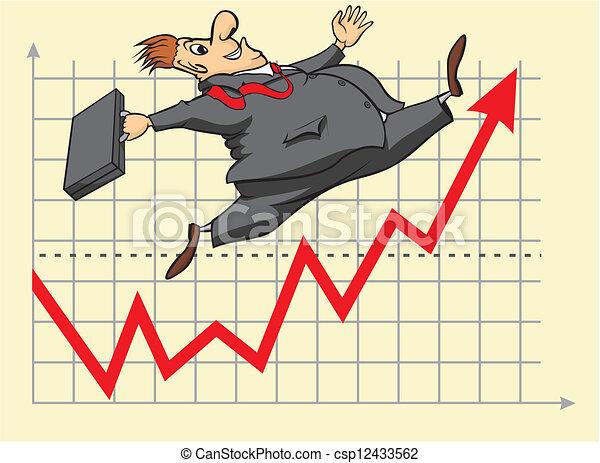 investidor, afortunado, mercado, estoque - csp12433562