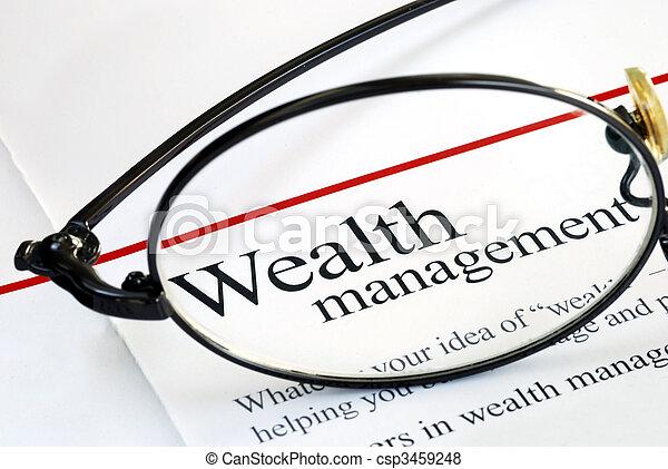 investieren, geld leitung, reichtum, fokus - csp3459248