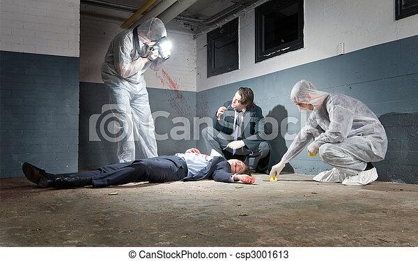 Investigación de la escena del crimen - csp3001613