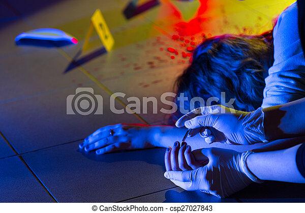 Investigación de la escena del crimen - csp27027843
