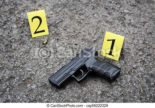 Investigación de la escena del crimen - csp56222329