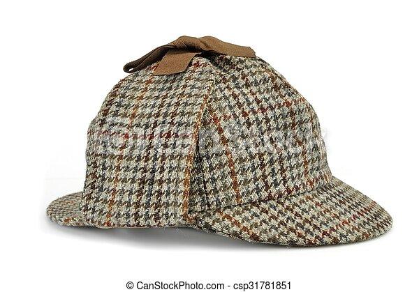 Investigation Concept With  Sherlock Holmes Hat Famous As  Deerstalker - csp31781851
