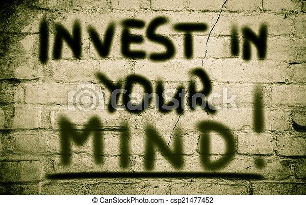 investir, conceito, mente, seu - csp21477452