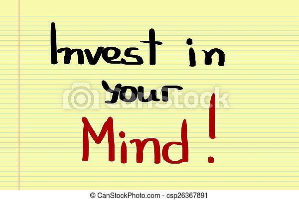 investir, conceito, mente, seu - csp26367891