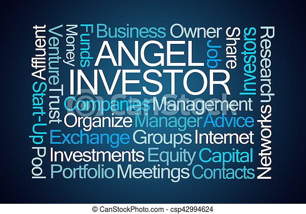 investitore, parola, angelo, nuvola - csp42994624
