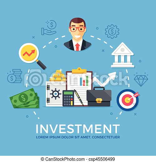 investment capital gain flat design graphic elements signs rh canstockphoto ca Grunge Clip Art Grunge Clip Art