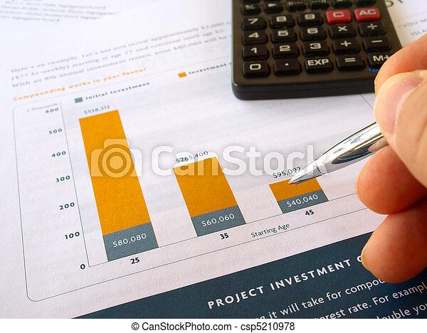Investment chart - csp5210978