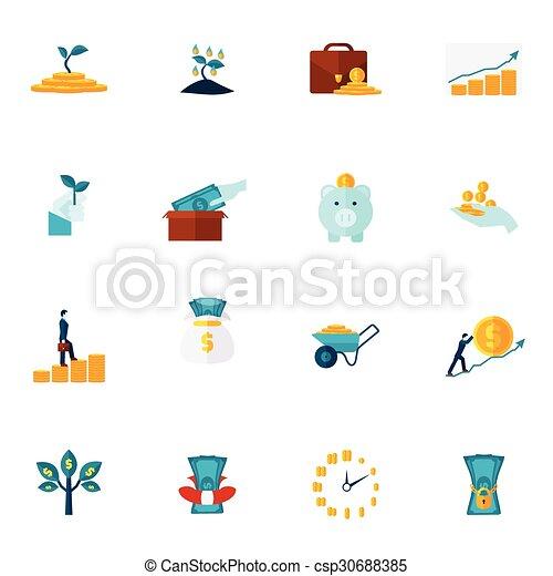 Investment Flat Icon Set - csp30688385