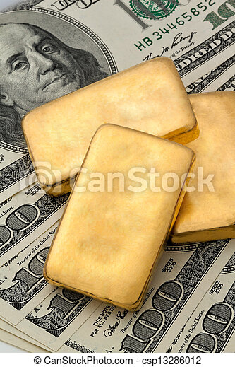 investment in real gold than gold bullion and gold coins - csp13286012