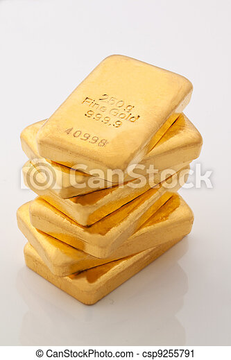 investment in real gold than gold bullion and goldm - csp9255791
