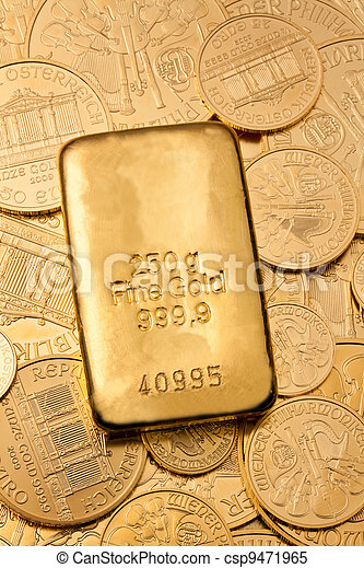 investment in real gold than gold bullion and goldm - csp9471965