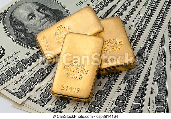 Investment in real gold than gold bullion and gold coins - csp3914164