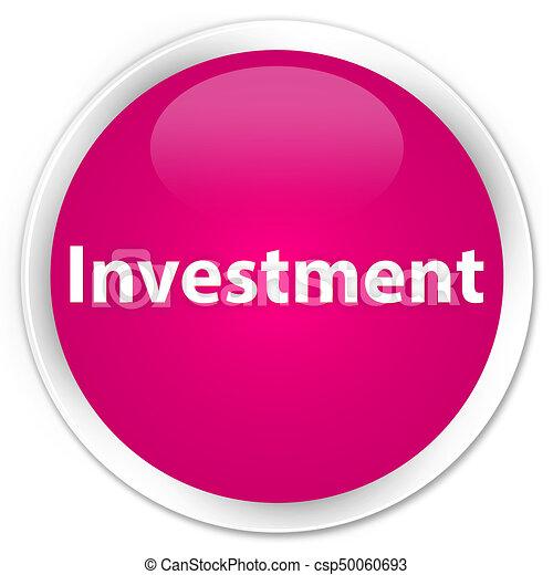 Investment premium pink round button - csp50060693