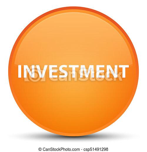 Investment special orange round button - csp51491298