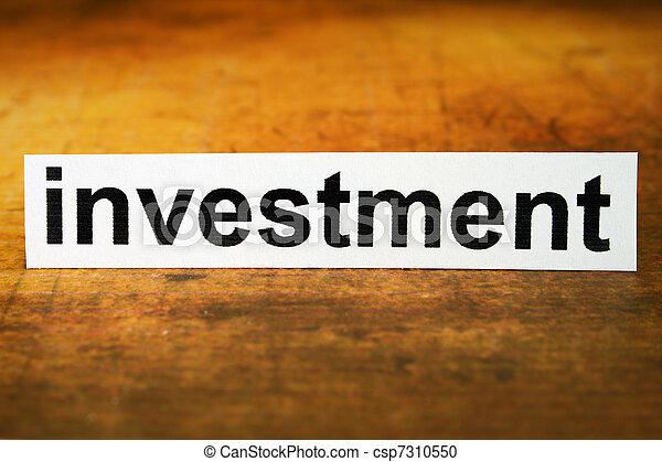 Investment - csp7310550