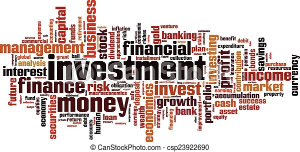 Investment word cloud - csp23922690