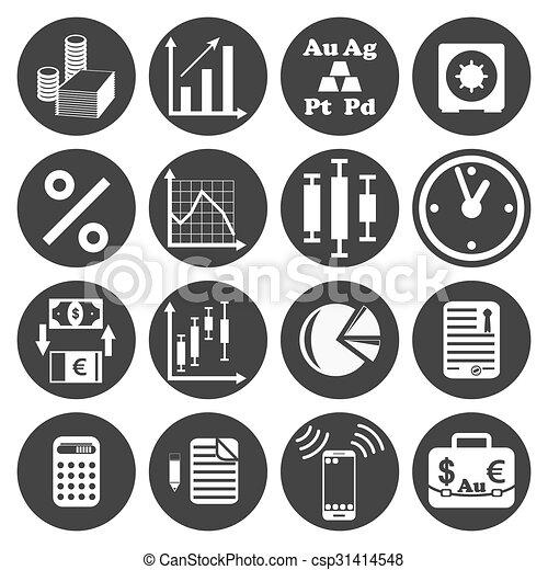 Investor icons set - csp31414548
