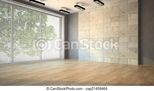 Habitación vacía con ciegos - csp21459464