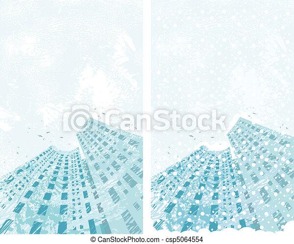 Ciudad de invierno - csp5064554