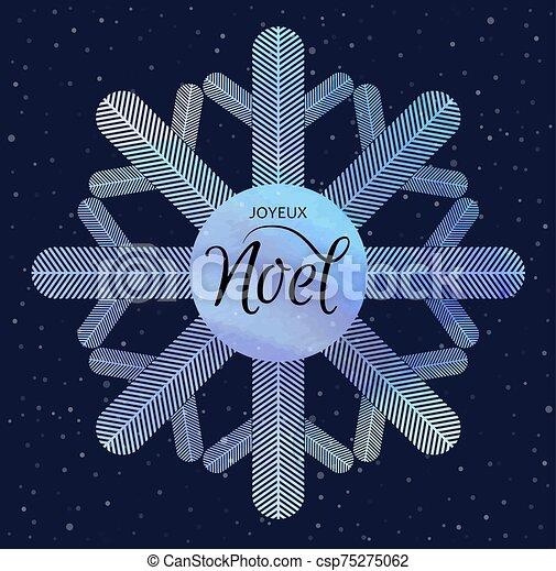 invierno, joyeux, feriado, acuarela, snowflake., fondo., noel. - csp75275062