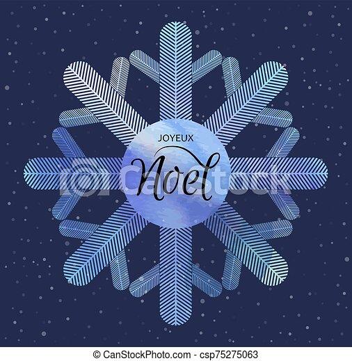 invierno, joyeux, feriado, acuarela, snowflake., fondo., noel. - csp75275063