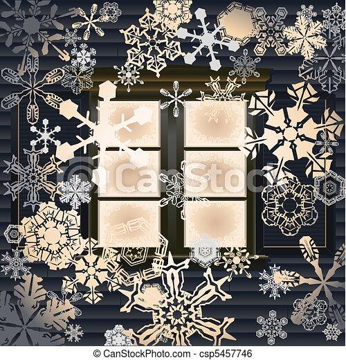Una ventana de invierno - csp5457746