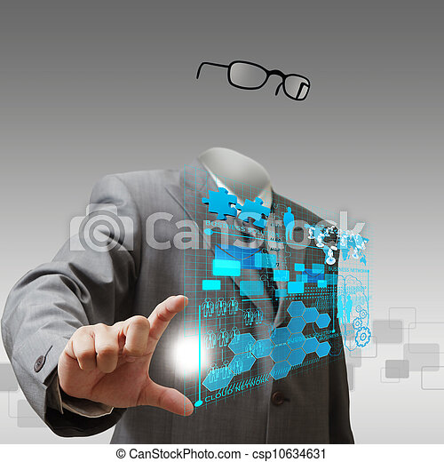 stock photos of invisible business man shows business progre