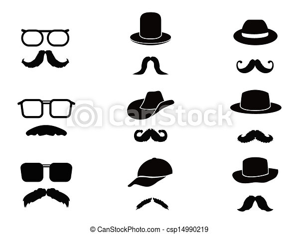 Worksheet. Clip art vectorial de invisible sombreros bigote hombre