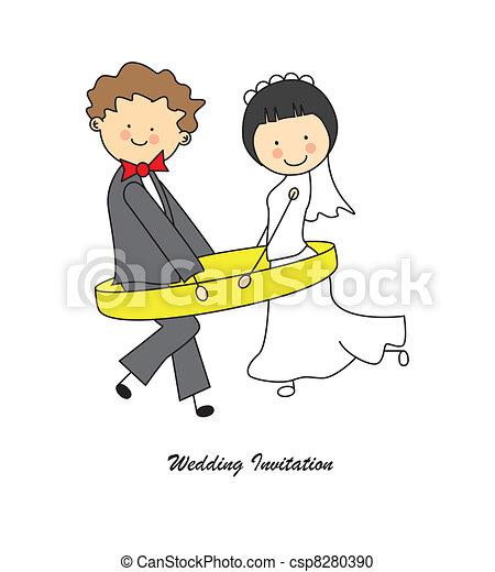 Invitación de boda - csp8280390