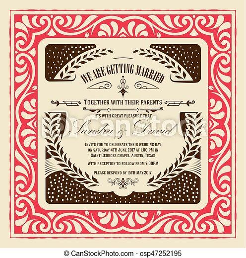 Invitación de boda - csp47252195
