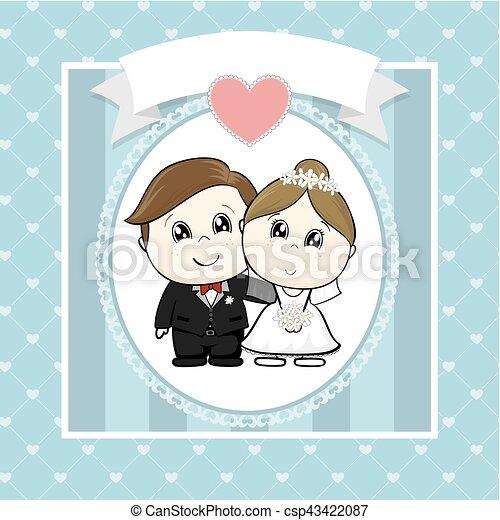 Invitación de boda - csp43422087