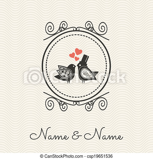 Invitación de boda - csp19651536