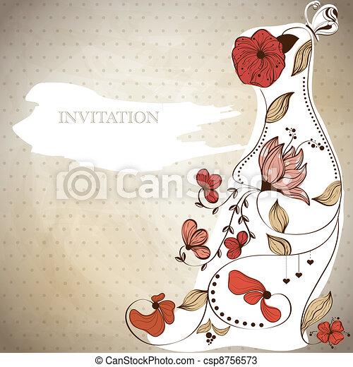Invitación de boda - csp8756573