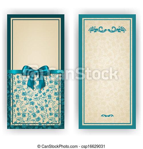 invitation, élégant, vecteur, luxe, gabarit, carte - csp16629031