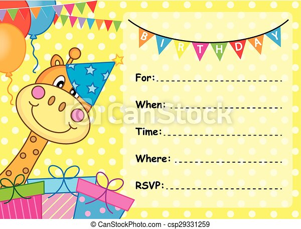 Invitation card birthday clipart vector search illustration invitation card birthday csp29331259 stopboris Choice Image